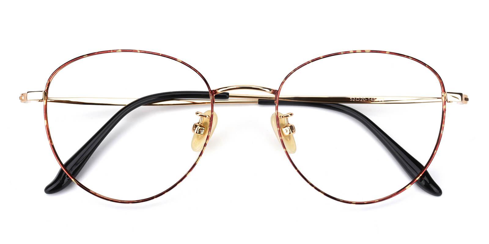 Litteray-Pattern-Round-Titanium-Eyeglasses-detail