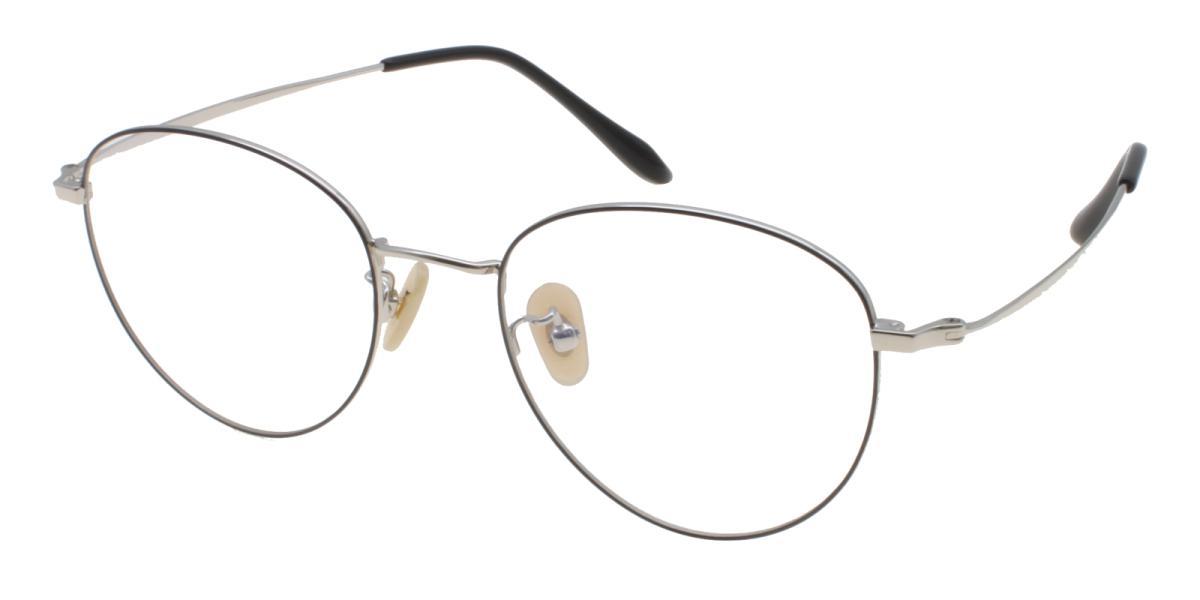Litteray-Silver-Round-Titanium-Eyeglasses-additional1