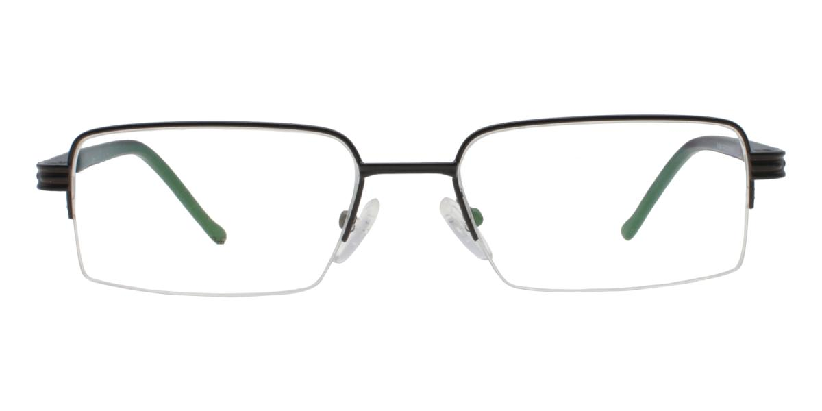 Nicaragua-Black-Rectangle-Metal-Eyeglasses-detail