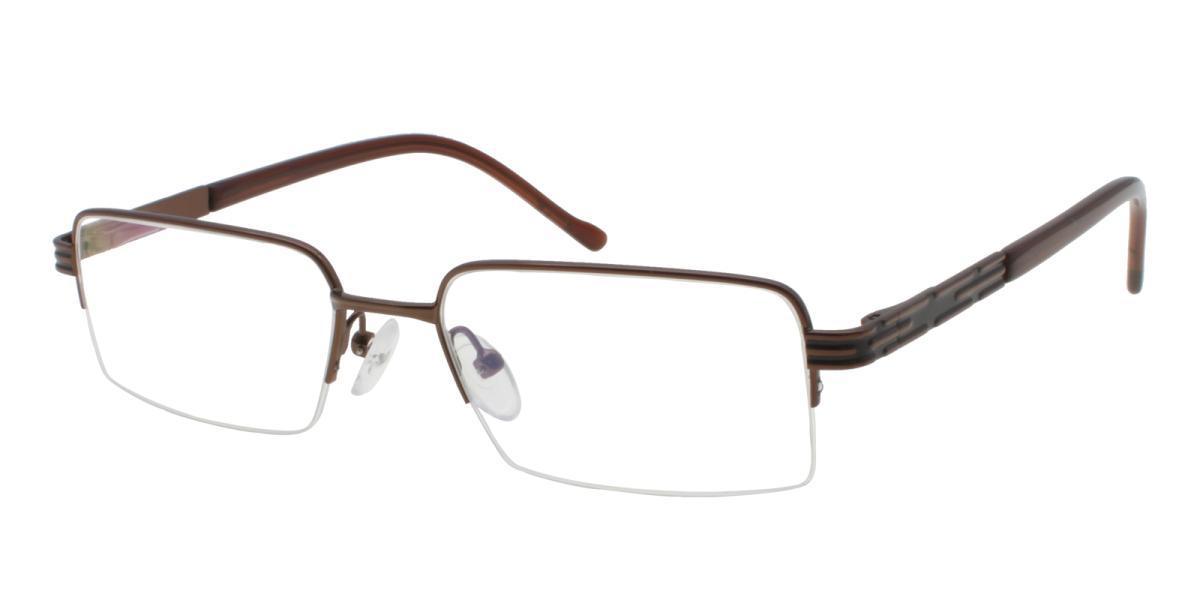 Nicaragua-Brown-Rectangle-Metal-Eyeglasses-additional1