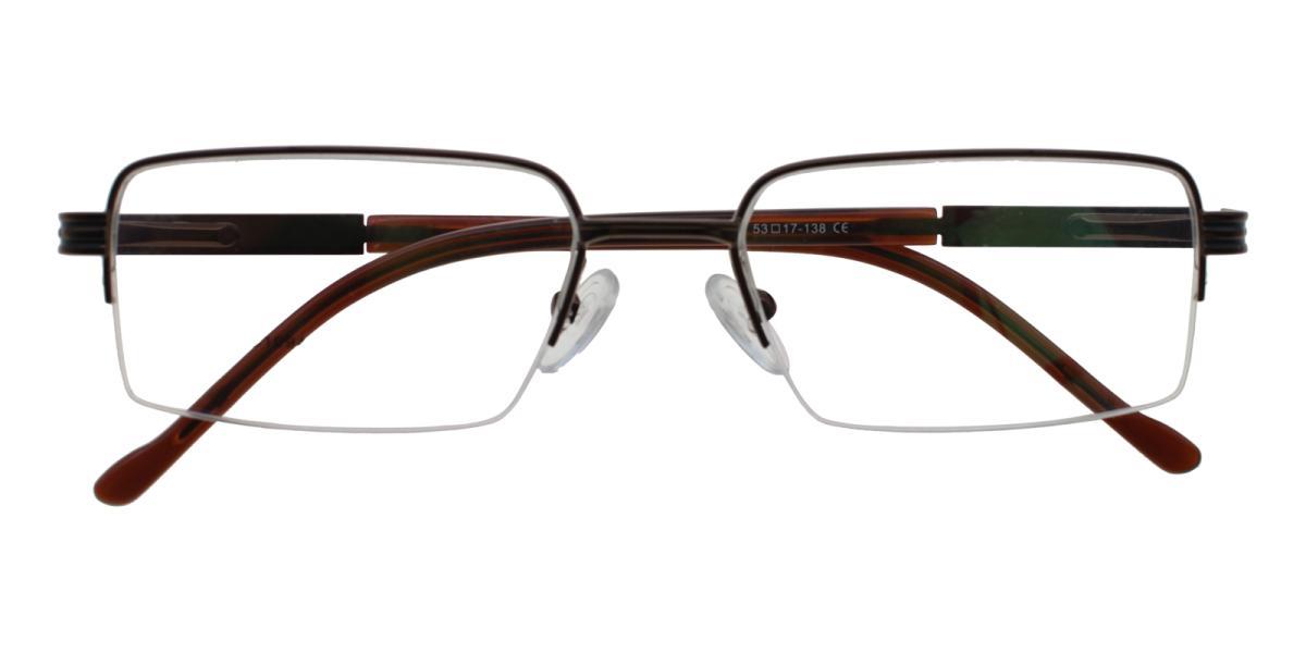 Nicaragua-Brown-Rectangle-Metal-Eyeglasses-detail