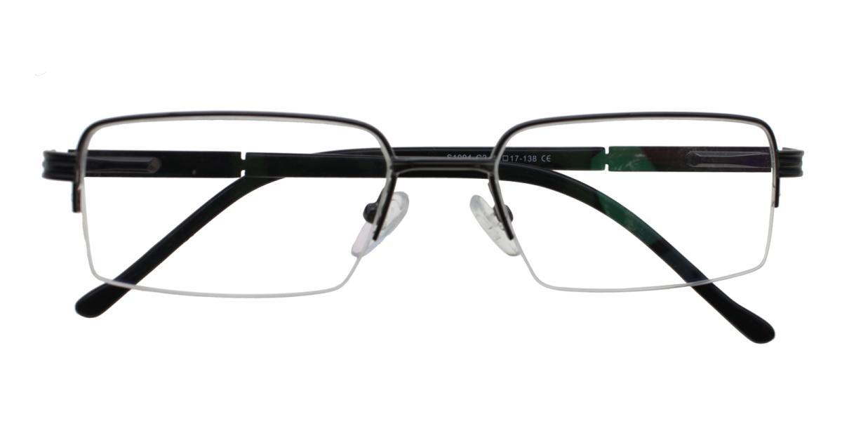 Nicaragua-Gun-Rectangle-Metal-Eyeglasses-detail
