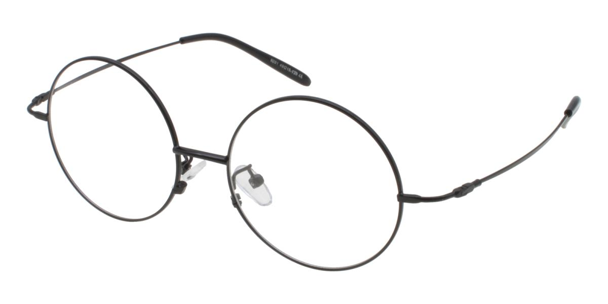 Lily-Black-Round-Acetate / Metal-Eyeglasses-additional1