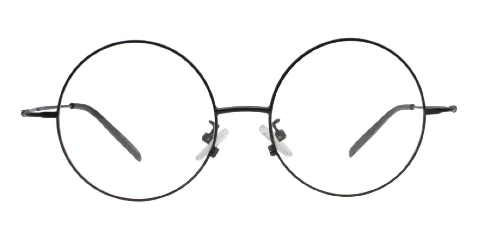 Lily-Black-Round-Acetate / Metal-Eyeglasses-additional2