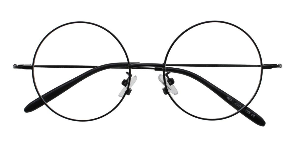 Lily-Black-Round-Acetate / Metal-Eyeglasses-detail