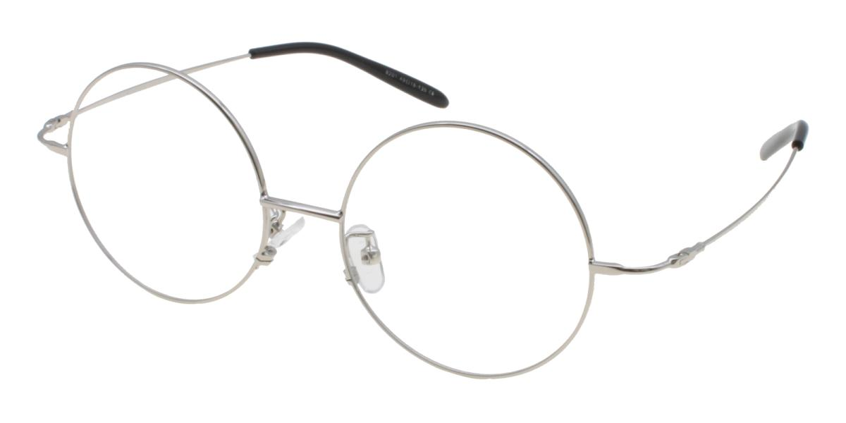 Lily-Silver-Round-Acetate / Metal-Eyeglasses-additional1
