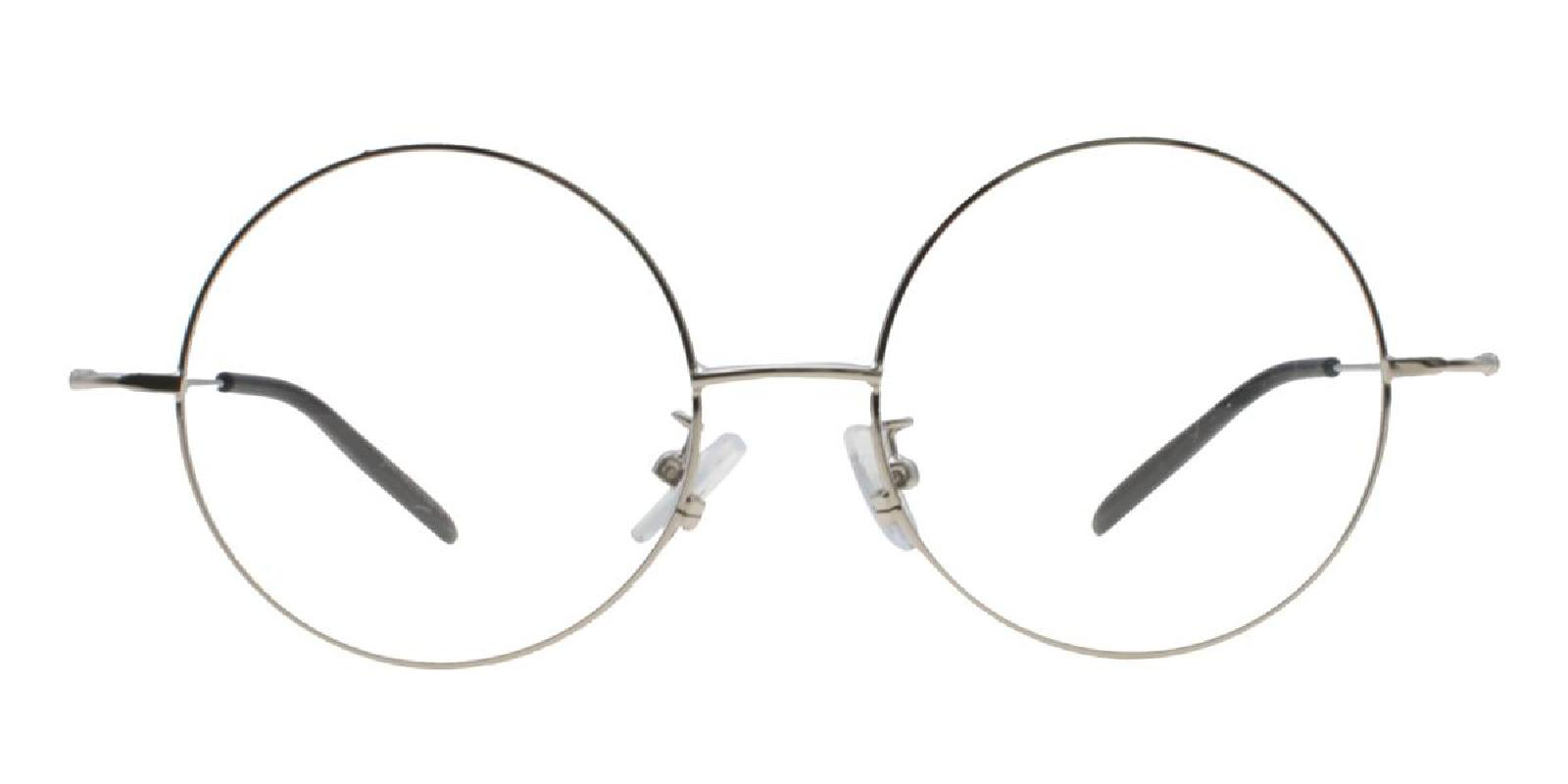 Lily-Silver-Round-Acetate / Metal-Eyeglasses-additional2