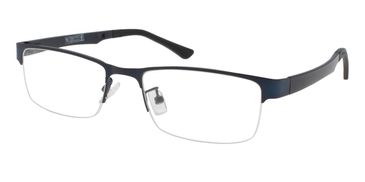 Norbter-Blue-Rectangle-Metal / TR-Eyeglasses-additional1