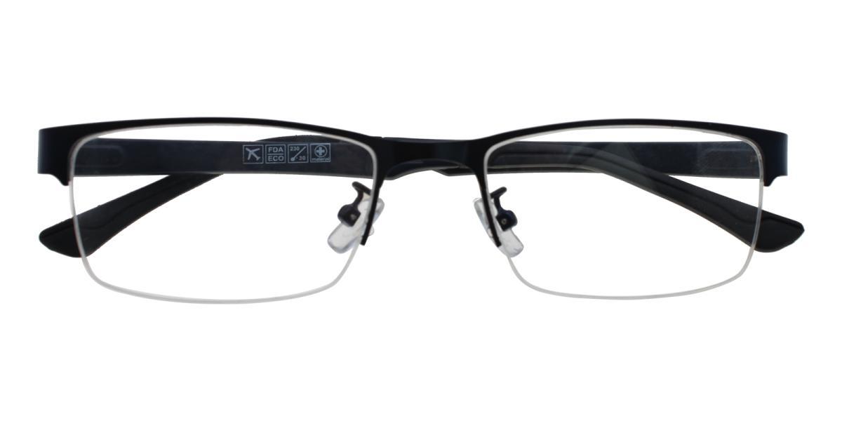 Norbter-Blue-Rectangle-Metal / TR-Eyeglasses-detail