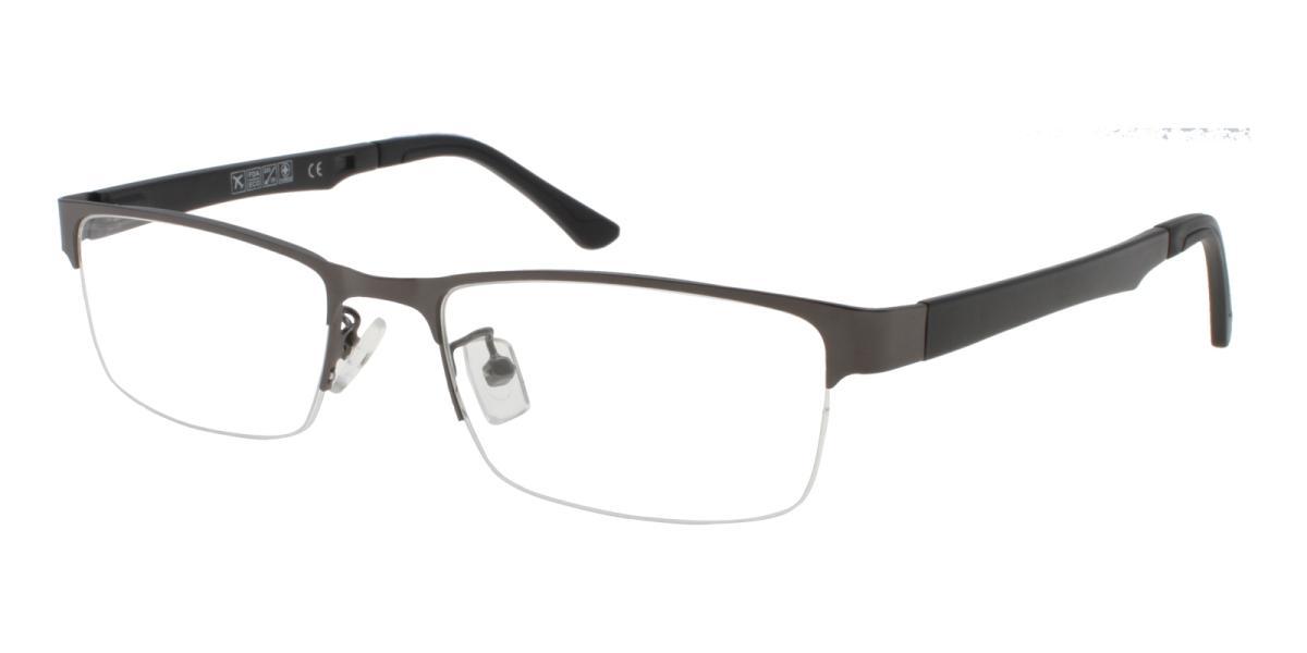 Norbter-Gun-Rectangle-Metal / TR-Eyeglasses-detail