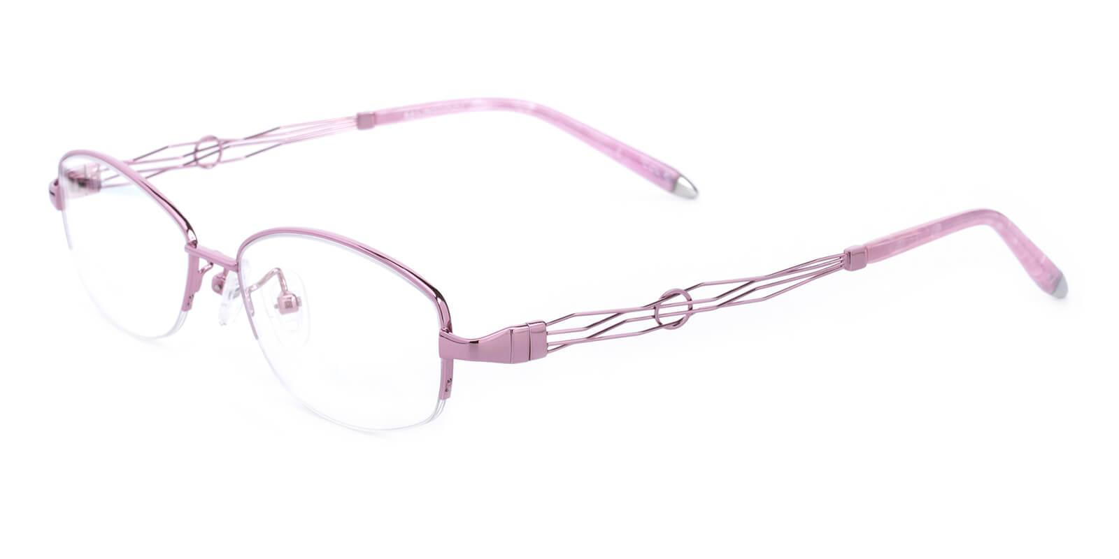 Grid-Pink-Oval-Metal-Eyeglasses-additional1