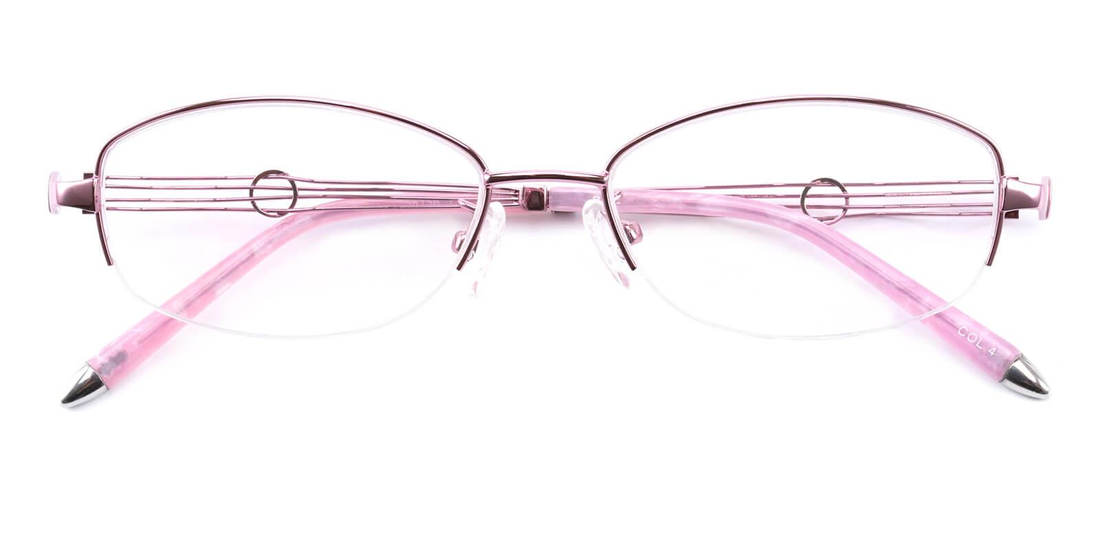 Grid-Pink-Oval-Metal-Eyeglasses-detail