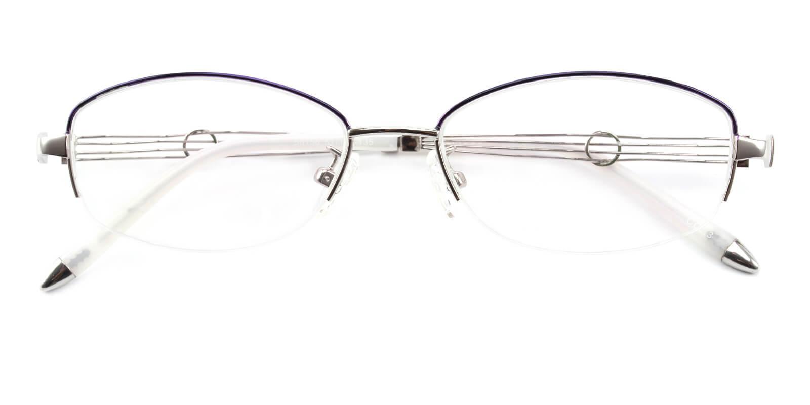 Grid-Silver-Oval-Metal-Eyeglasses-detail