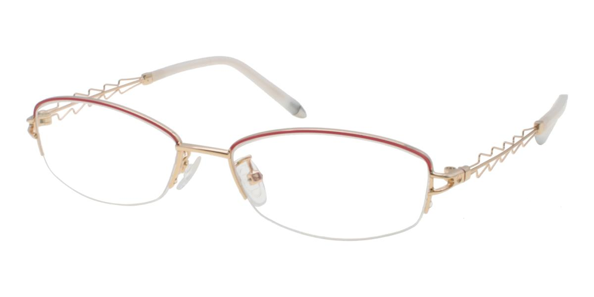 Asher-Gold-Oval-Acetate / Metal-Eyeglasses-additional1