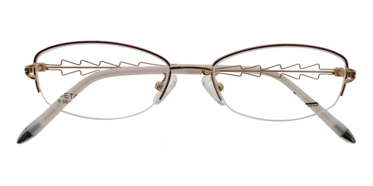 Asher-Gold-Oval-Acetate / Metal-Eyeglasses-additional2