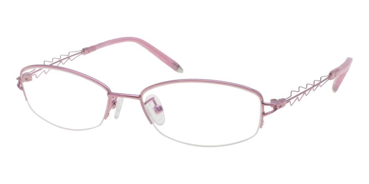 Asher-Pink-Oval-Acetate / Metal-Eyeglasses-detail