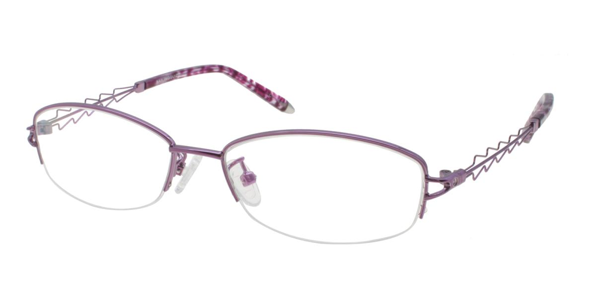 Asher-Purple-Oval-Acetate / Metal-Eyeglasses-additional1