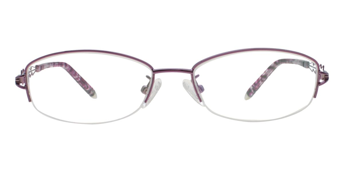 Asher-Purple-Oval-Acetate / Metal-Eyeglasses-additional2