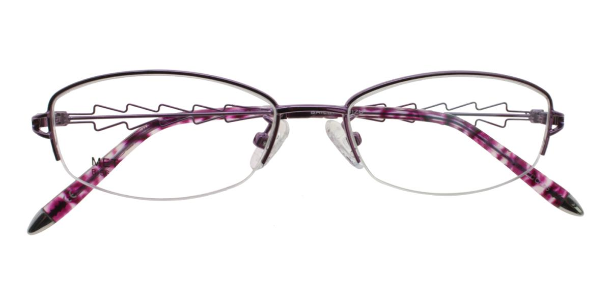 Asher-Purple-Oval-Acetate / Metal-Eyeglasses-detail