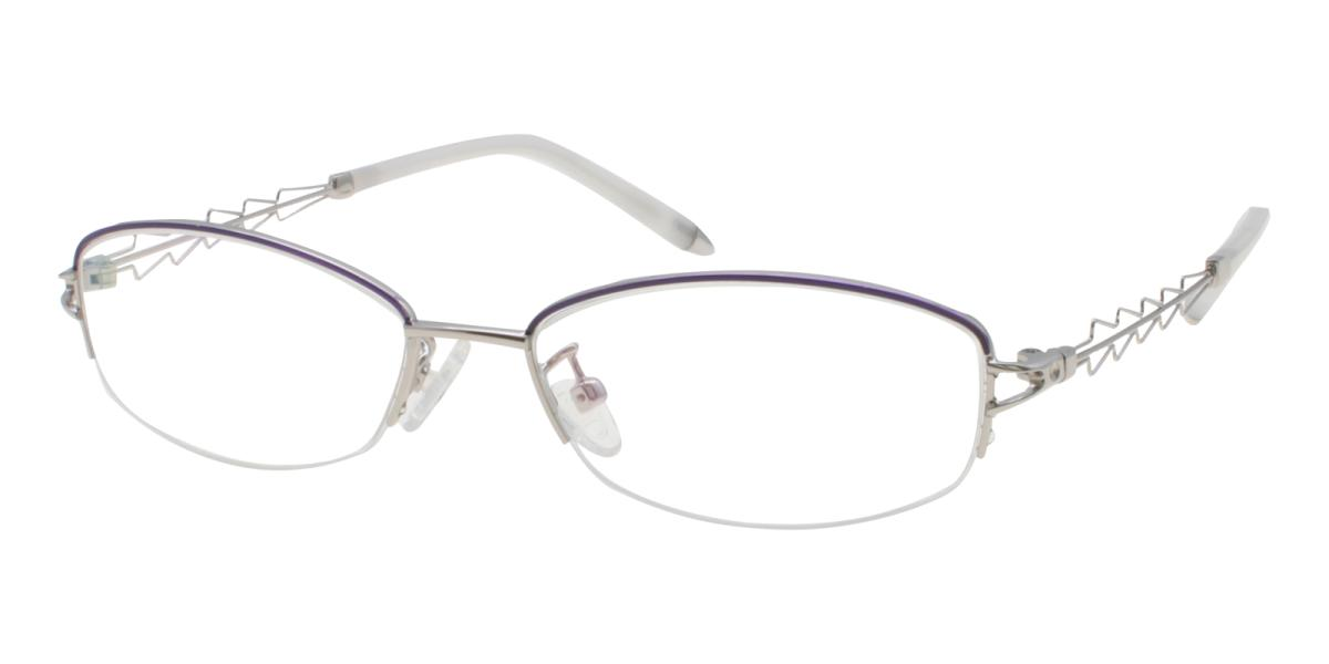 Asher-Silver-Oval-Acetate / Metal-Eyeglasses-additional1