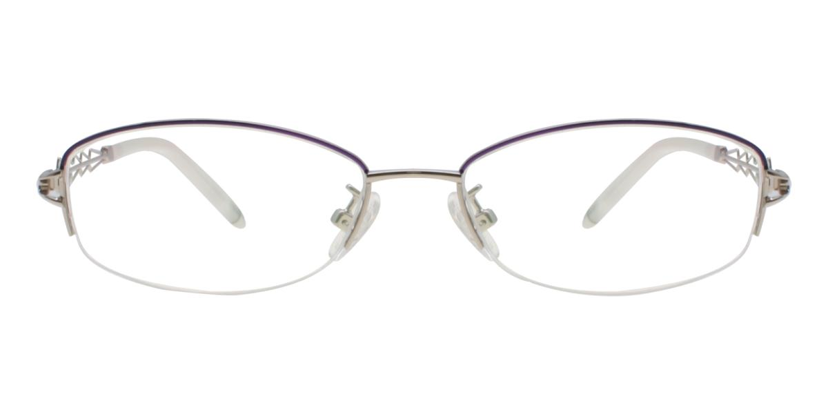 Asher-Silver-Oval-Acetate / Metal-Eyeglasses-additional2