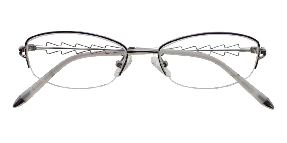 Asher-Silver-Oval-Acetate / Metal-Eyeglasses-detail
