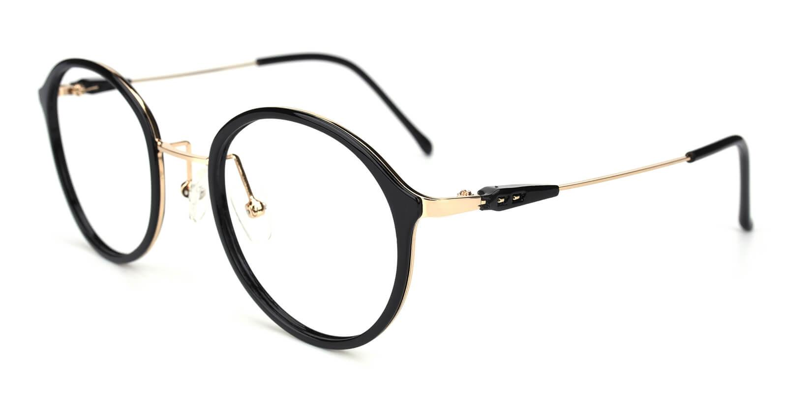Portrait-Black-Round-Metal / TR-Eyeglasses-additional1