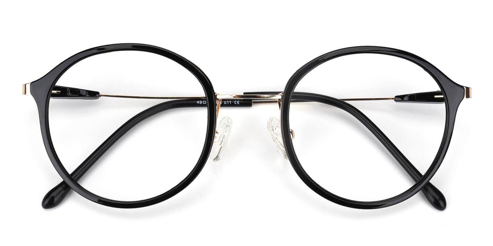 Portrait-Black-Round-Metal / TR-Eyeglasses-detail
