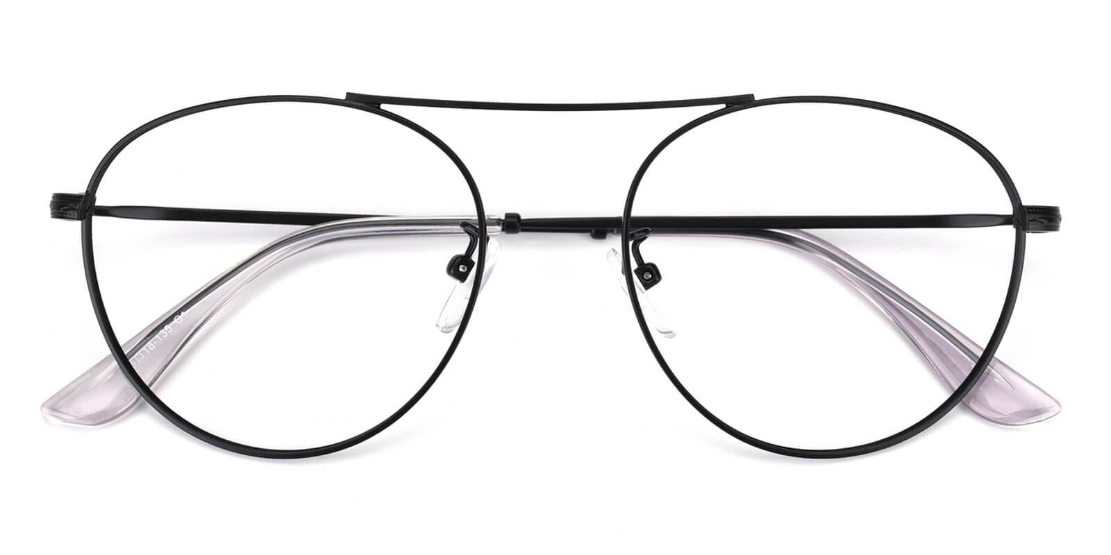 Fleybean-Black-Aviator-Metal-Eyeglasses-detail