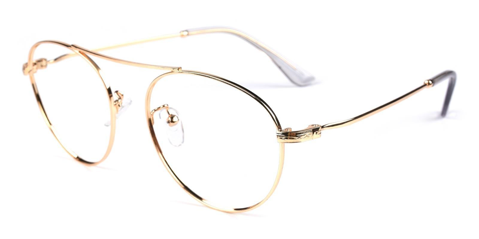 Fleybean-Gold-Aviator-Metal-Eyeglasses-additional1