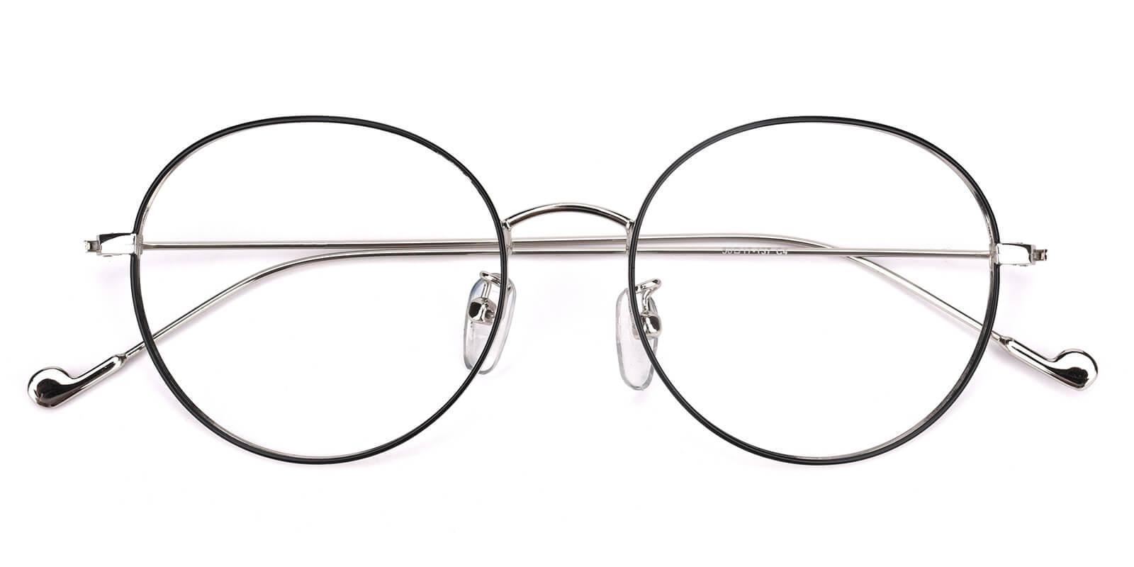Jessy-Black-Round-Metal-Eyeglasses-detail