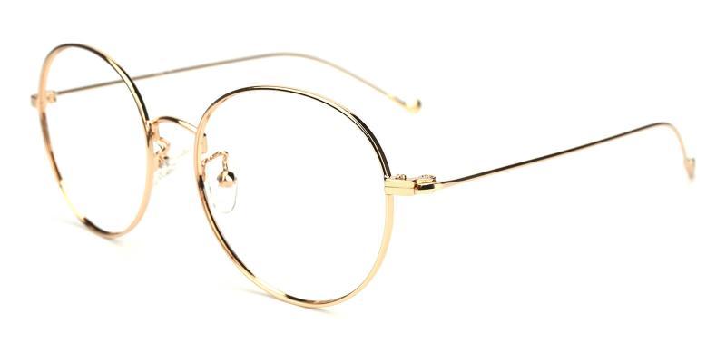 Jessy-Gold-Eyeglasses / Lightweight / NosePads