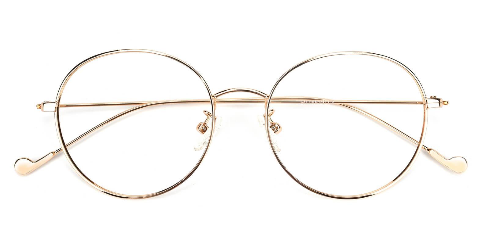 Jessy-Gold-Round-Metal-Eyeglasses-detail