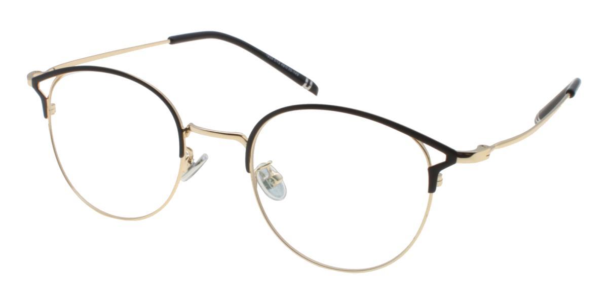 Brace-Gold-Browline-Metal-Eyeglasses-detail