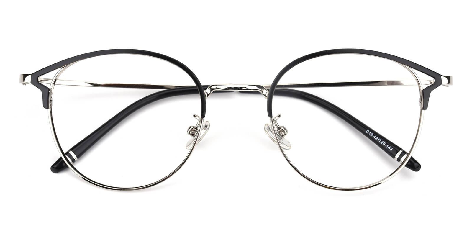 Brace-Silver-Browline-Metal-Eyeglasses-detail