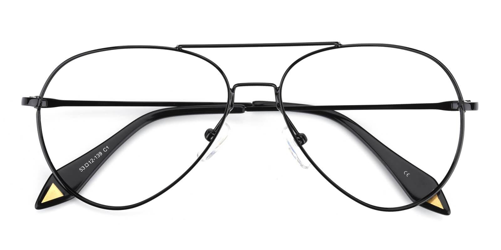 Pilot-Black-Aviator-Metal-Eyeglasses-detail