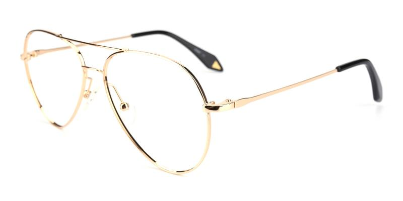 Pilot-Gold-Eyeglasses