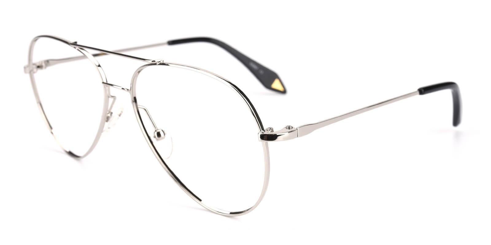 Pilot-Silver-Aviator-Metal-Eyeglasses-detail