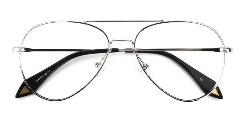 Pilot-Silver-Eyeglasses