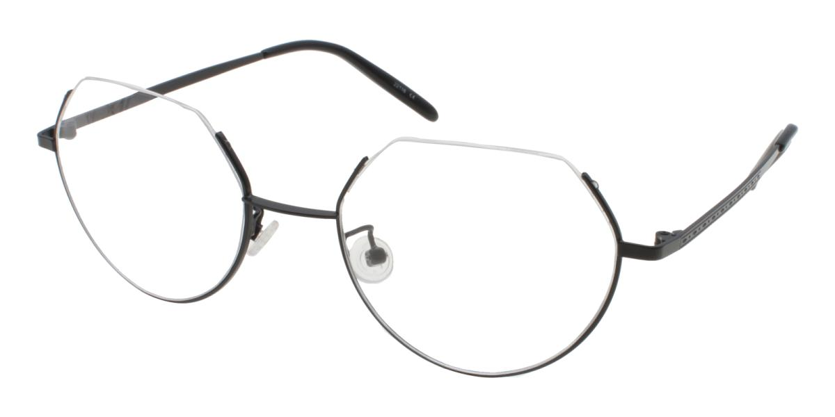 Hudson-Black-Geometric-Metal-Eyeglasses-additional1
