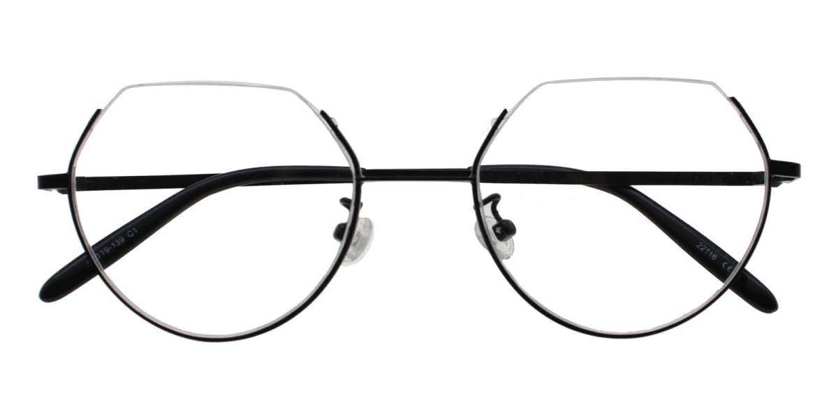 Hudson-Black-Geometric-Metal-Eyeglasses-detail