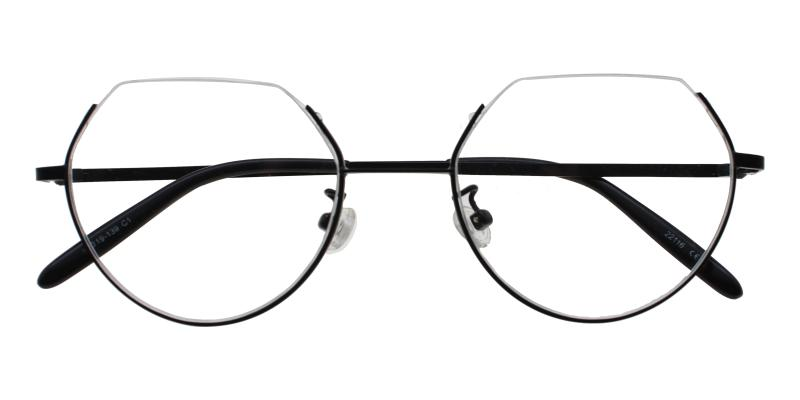 Hudson-Black-Eyeglasses / Lightweight / NosePads