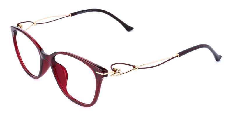 Godsilk-Red-Eyeglasses / Lightweight / UniversalBridgeFit