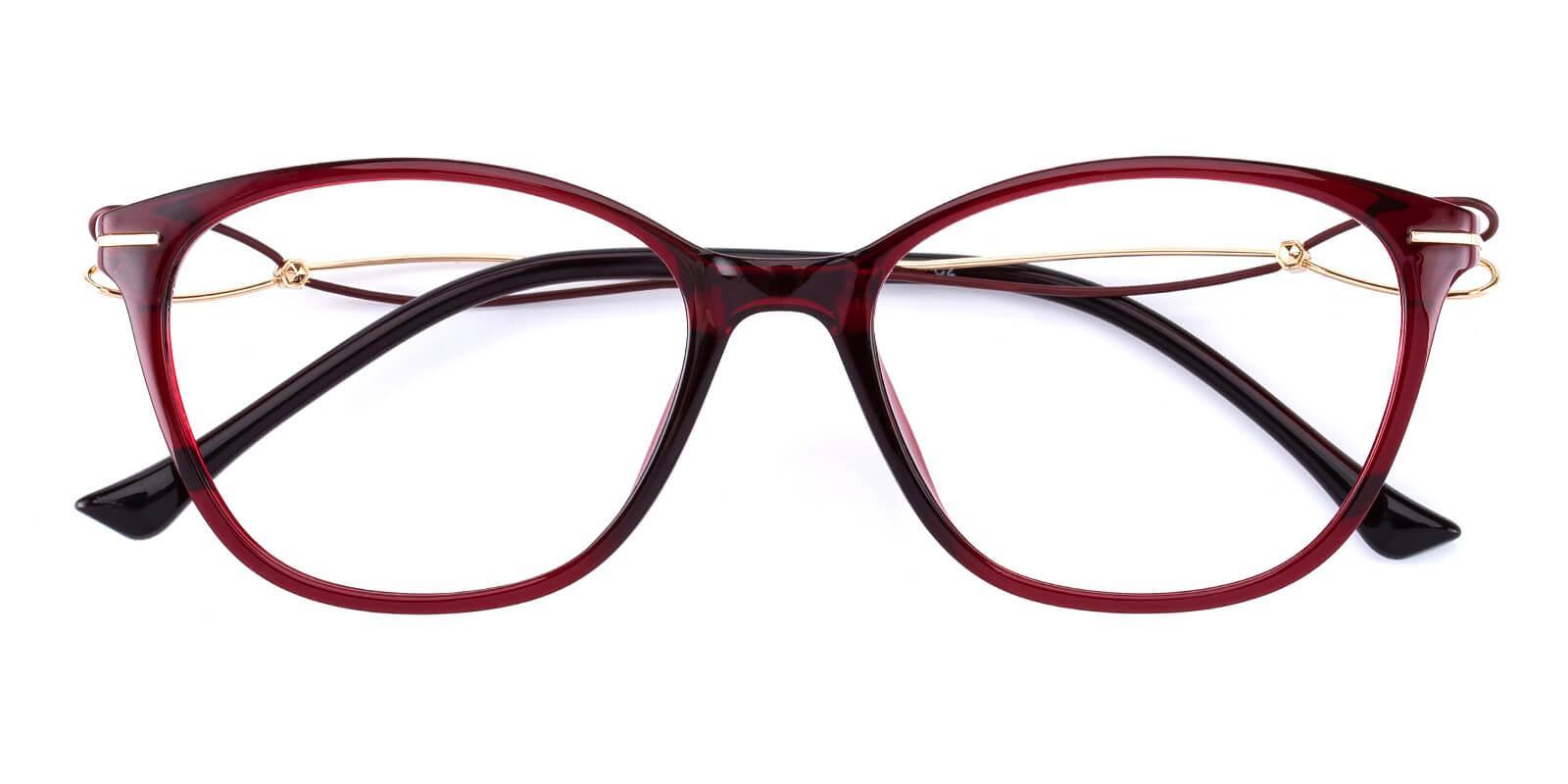 Godsilk-Red-Cat-Metal / TR-Eyeglasses-detail