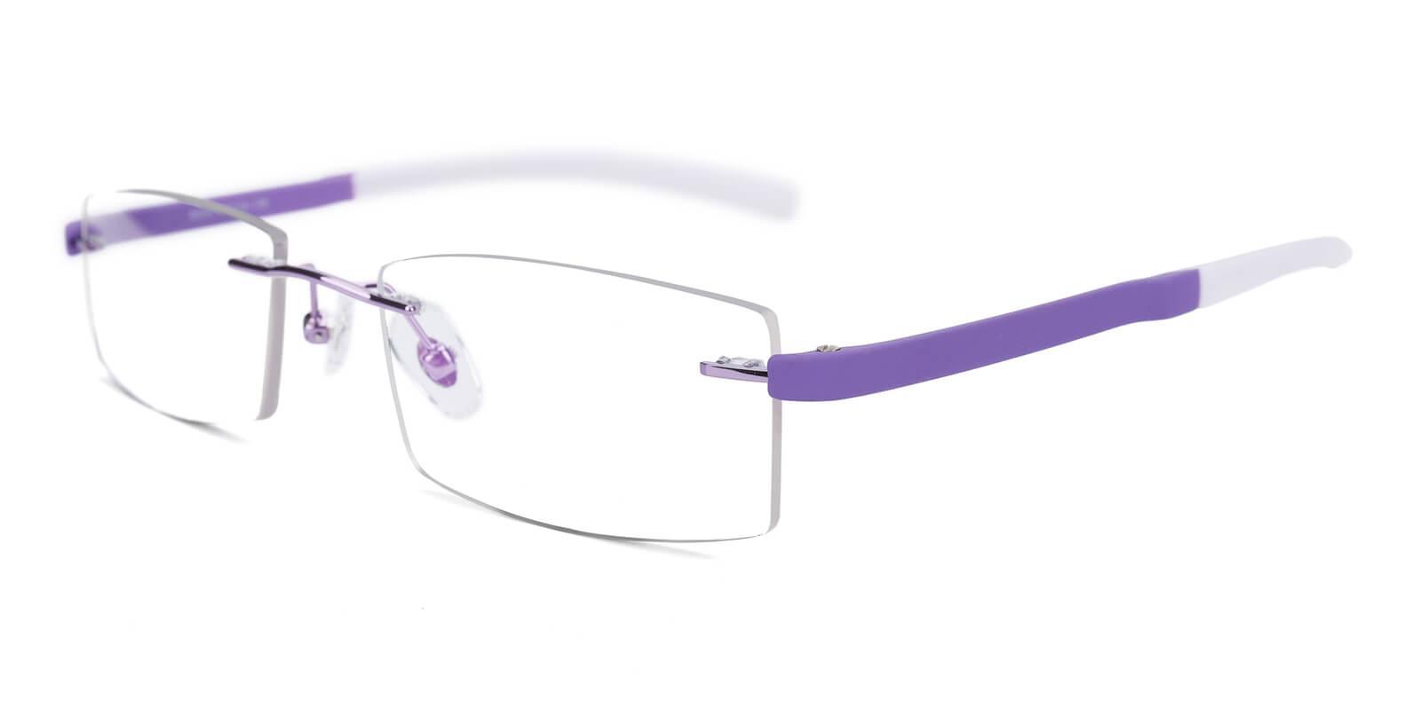 Trimming-Purple-Varieties-Acetate / Metal-Eyeglasses-additional1