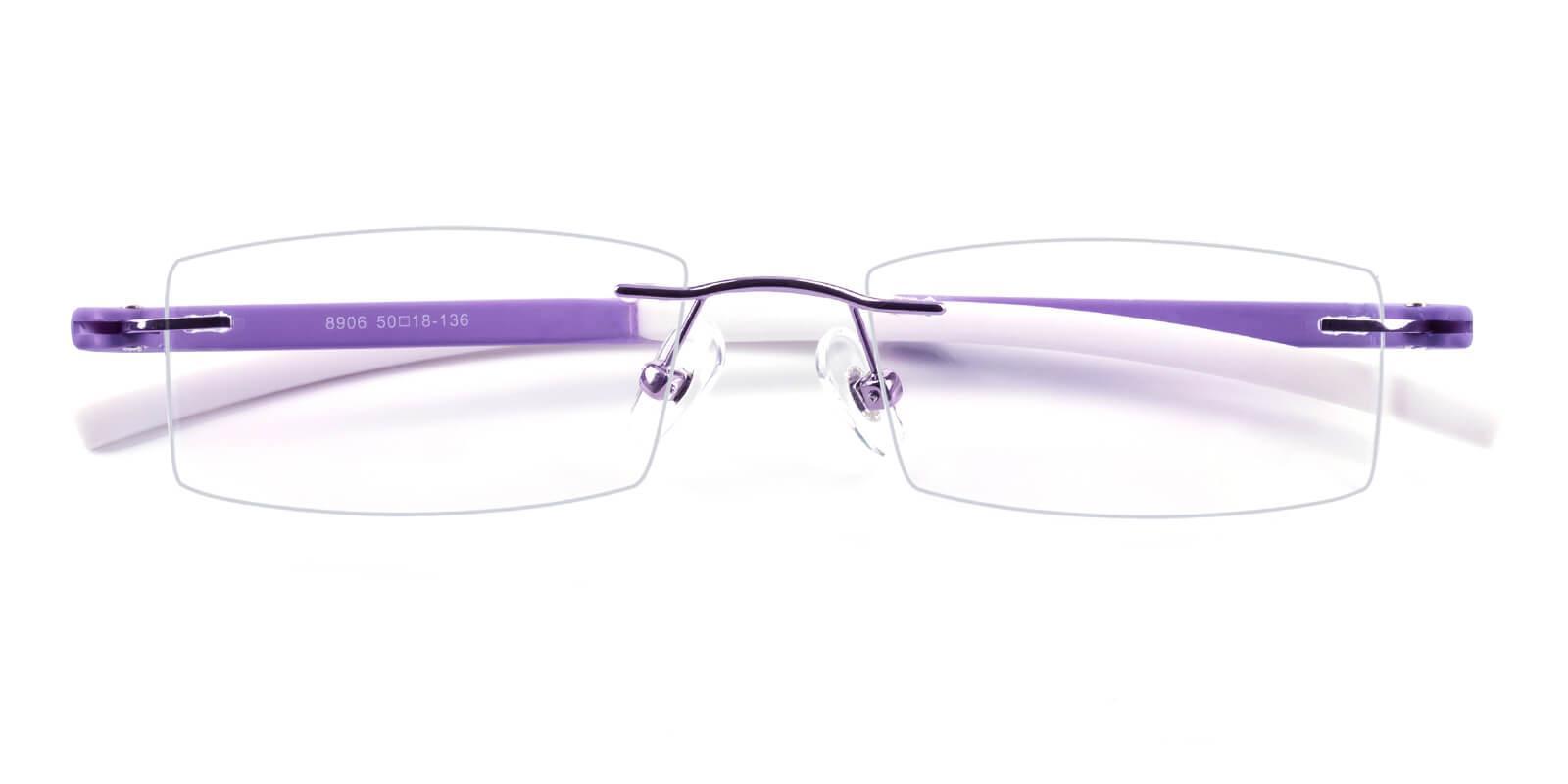 Trimming-Purple-Varieties-Acetate / Metal-Eyeglasses-detail