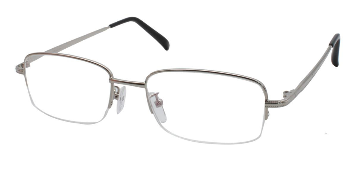 Slimber-Silver-Rectangle-Metal-Eyeglasses-additional1