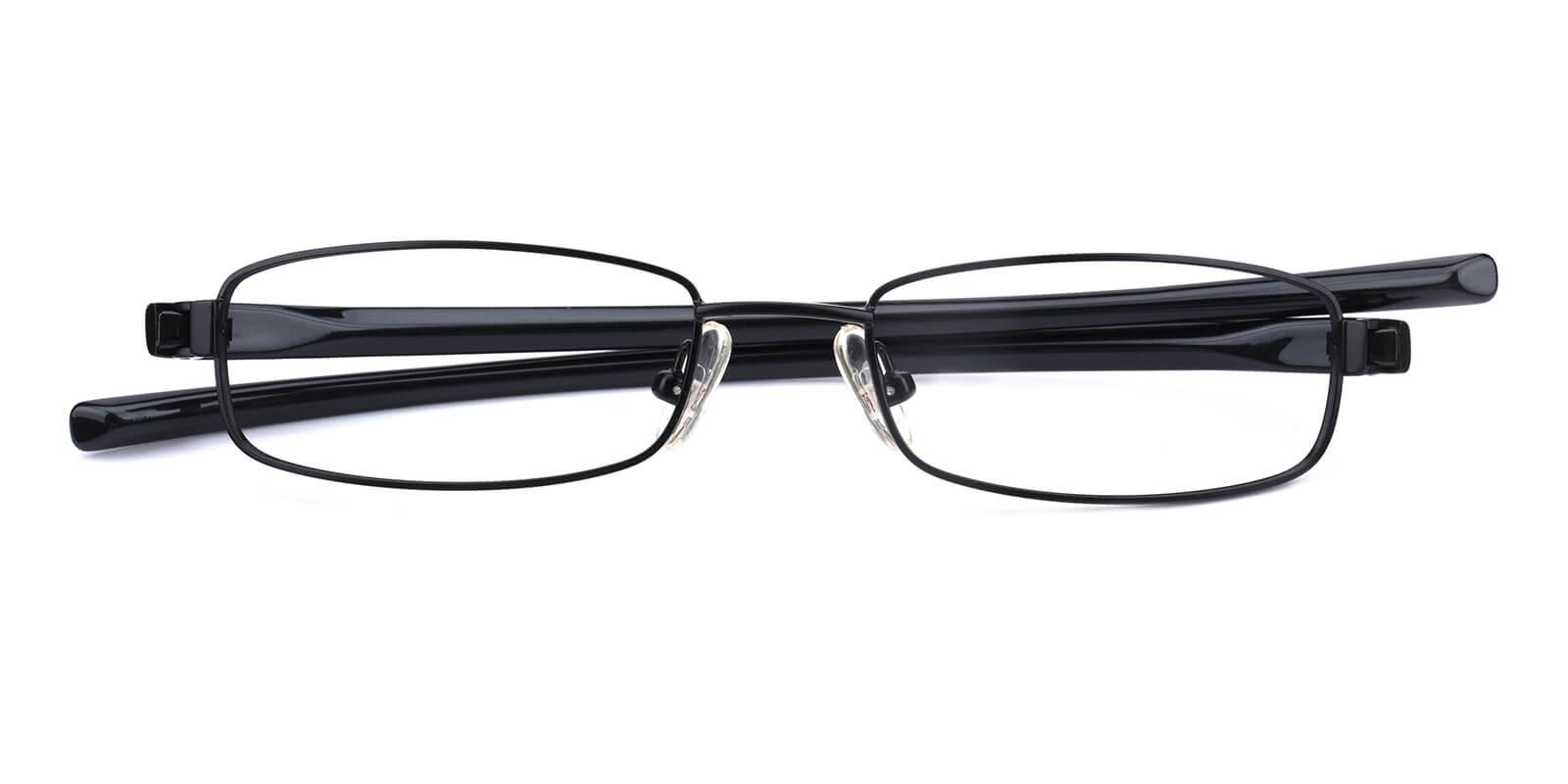 Slender-Black-Rectangle-Metal-Eyeglasses-detail