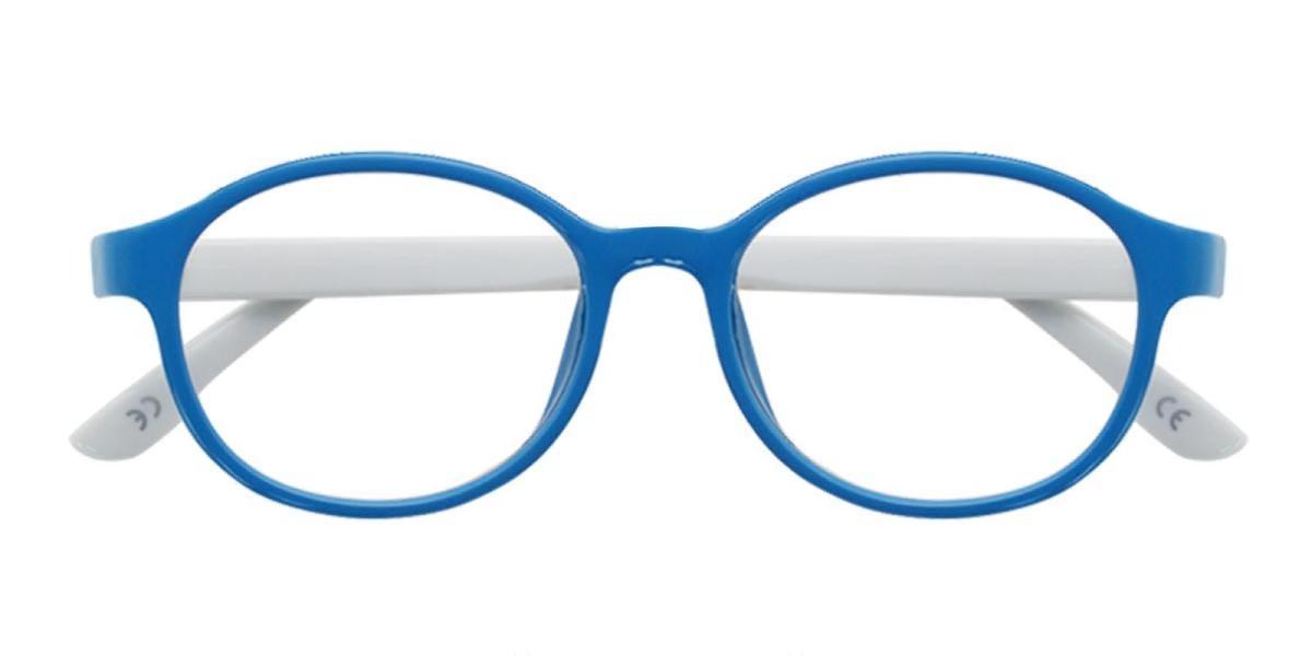 Achiever-Blue-Round-Plastic-Eyeglasses-detail