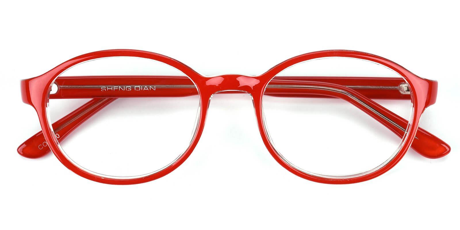 Achiever-Red-Round-Plastic-Eyeglasses-detail